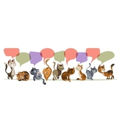 Chatting Kittens Composition vector image vector image