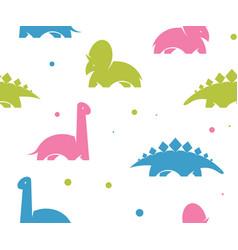 childish dinosaur seamless pattern for fashion vector image
