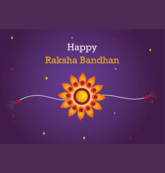 colorful greeting card design for raksha bandhan vector image