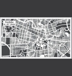 Cordoba argentina city map in black and white vector