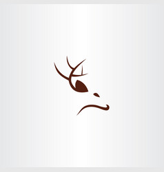 deer logo icon sign symbol vector image
