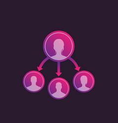 delegate work vector image