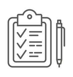 document pen icon vector image