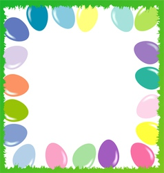 Easter background with eggs 2d vector image