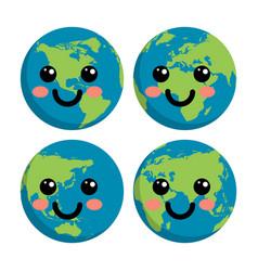 eco symbol of planet earth vector image