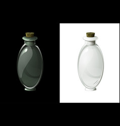 Empty transparent flask for magic potion for ui vector