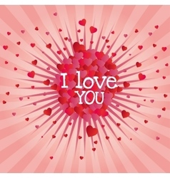 explosion hearts love image design vector image