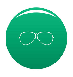Eyewear icon green vector