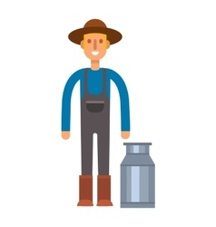 Farmers milk can vector