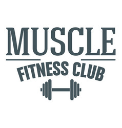 Fitness muscle club image vector