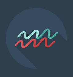 Flat modern design with shadow icons aquarius vector