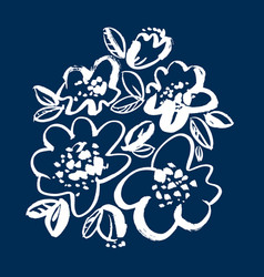 floral hand drawn vector image