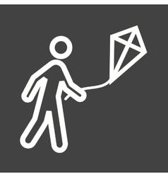 Flying Kite vector
