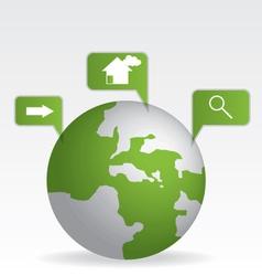 Globe map green vector image vector image