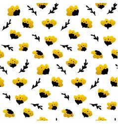 gold black flower seamless pattern vector image