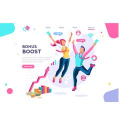 Graphic bonus management concept vector
