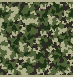 Green camouflage seamless pattern military vector