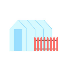 greenhouse hothouse and fence vector image