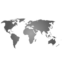 Grey silhouette of world map vector image
