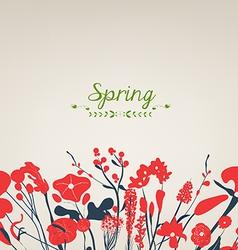 Happy spring flower vintage vector image