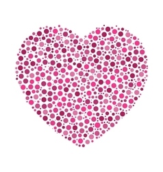Heart mosaic of dots vector image