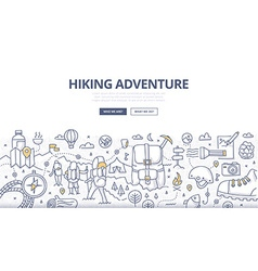 Hiking Adventure Doodle Concept vector