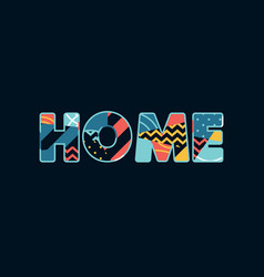 Home concept word art vector