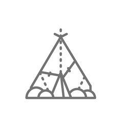 indian wigwam prehistoric house primitive home vector image