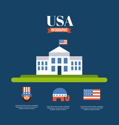 infographic usa related image vector image