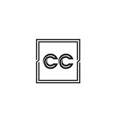 Initial letter cc logo template design vector