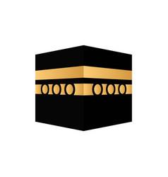 Kaaba mecca icon vector
