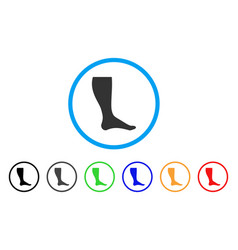 Leg rounded icon vector