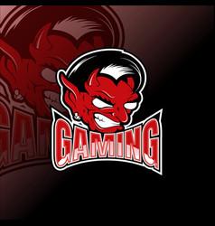 logo e sport demon design template vector image