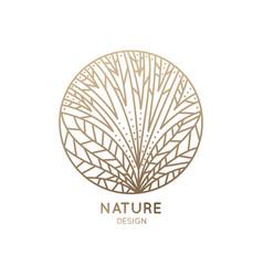 Logo flower with line petals vector