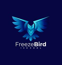 Logo freeze bird gradient colorful style vector