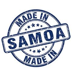 made in Samoa vector image
