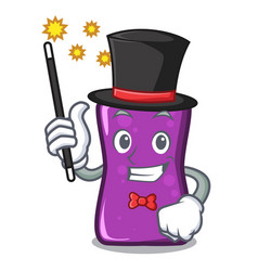 Magician shampo mascot cartoon style vector