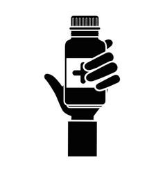 medicine drugs bottle vector image