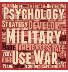 Military Psychology The Latest Developments text vector