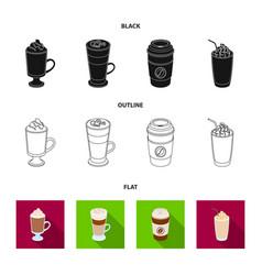 Mocha macchiato frappe take coffeedifferent vector