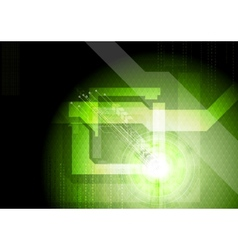 Modern technical green background vector