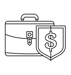 money leather case icon outline style vector image