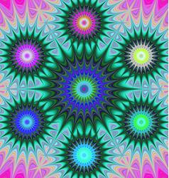 Multicolored fractal mandala background vector