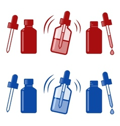 Nasal drops icon vector