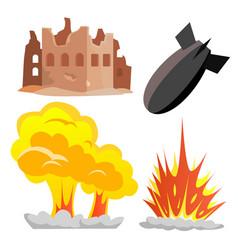 Nuclear bomb blast icon military war vector