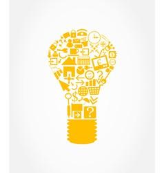 Office light bulb vector