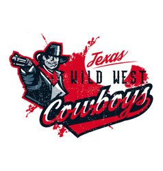 on a theme of the wild west vector image