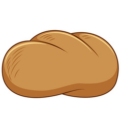 One piece bun on white background vector