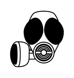 Outline gas mask respiration protective vector