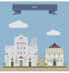 Pisa vector image vector image